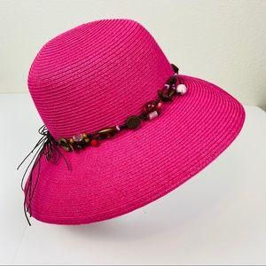 Cappelli Straworld Wide Brim Pink Sun Hat